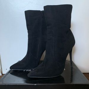 Faux Suede High Ankle Boot